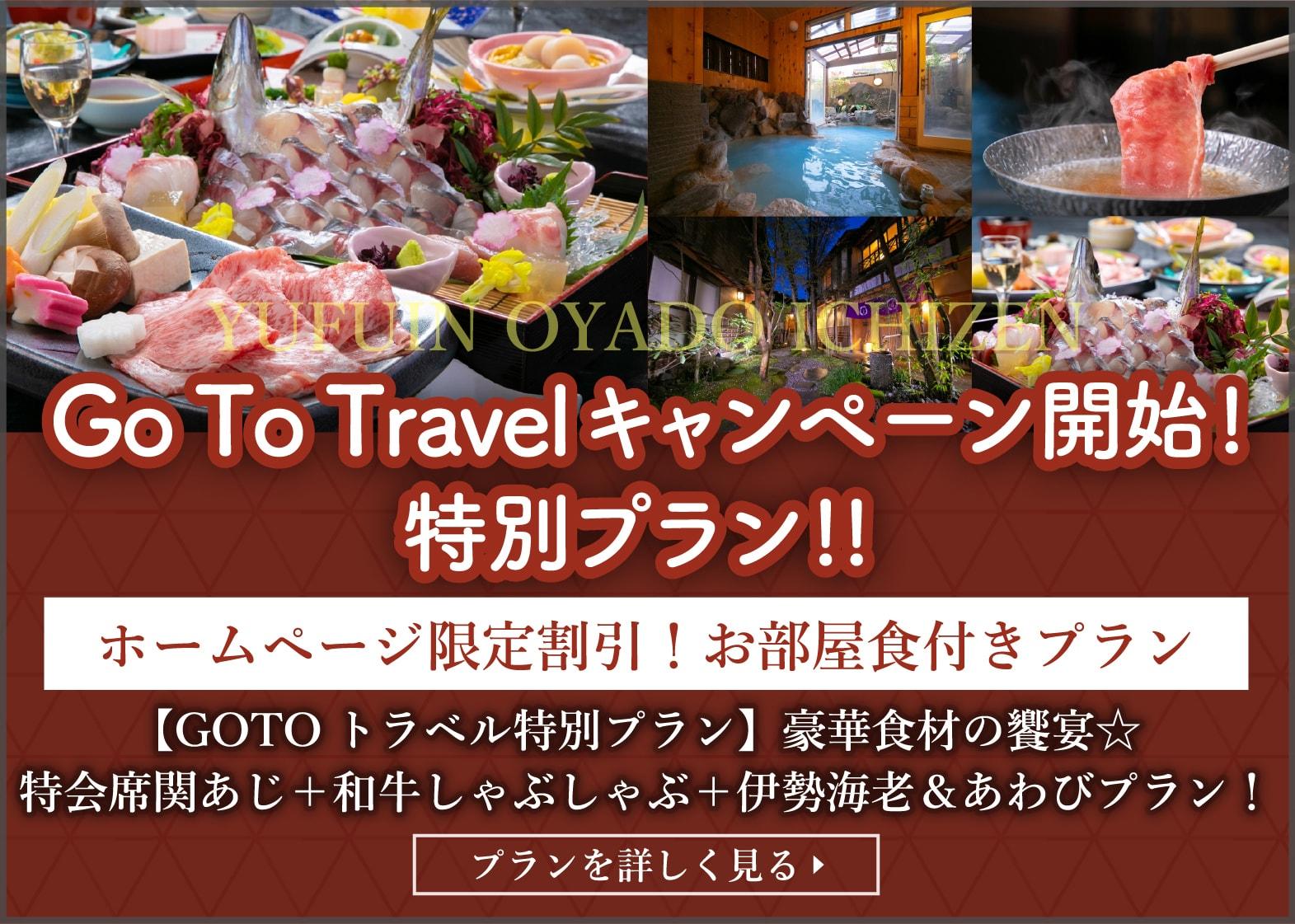 Go To Travel キャンペーン開始!特別プラン!